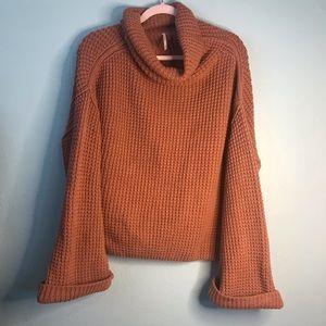 Free People burnt orange sweater
